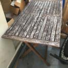 折り畳みウッドテーブル差し上げます