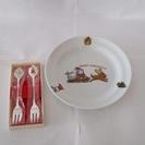 クリスマスプレート&フォーク/ 食器 / キッチン用品 / 皿
