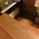 無印良品 無垢材テーブルベンチ・オーク 120x37.5x44cm(2014年購入) - 目黒区
