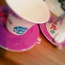 ネスレ製 ペアカップとドルチェのグラスとカップ&ソーサー 全て各2...