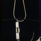 スワロフスキー社製ゴールドメッキネックレス(未使用品)