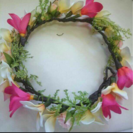 花冠 ヘッドドレス ウェディング