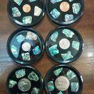 ニュージーランド コースター コイン、貝殻入り 6枚セット