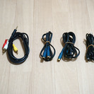 S端子ケーブル、4極ケーブル、ステレオミニケーブル 1本100円
