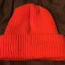 スノーボード オレンジニット帽 未使用