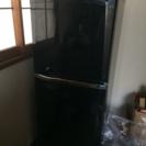 オシャレな冷蔵庫。三菱製。