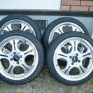 タイヤ195-45R16、アルミホイル、セット売ります