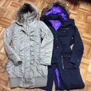 美品★モッズコート2着セット厚手★カーキ色とブラック/特価