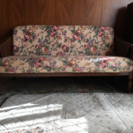 藤のソファ