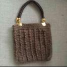 20×20㎝毛糸のバッグ