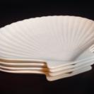 《予約有》ホタテ貝殻型のお皿4枚セット