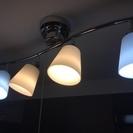 4灯シーリングスポットライト・クロームメタルフレーム・ガラスシェー...