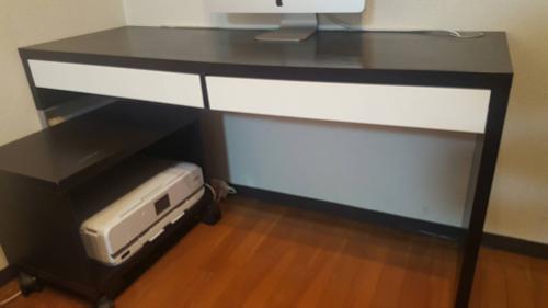 [交渉中]【IKEA】デスク U0026 プリンターキャビネットの画像