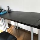 【傷有り】Ikea LINNMON(ブラック) & ADILS(シ...