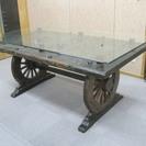中古品 中国家具 門テーブル