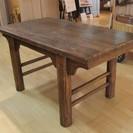 中国製中古家具 無垢板ダイニングテーブル