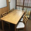 6人掛けダイニングテーブル&椅子6脚♪