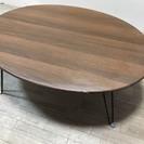 011651 楕円形 木目調折り畳みテーブル