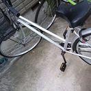 26インチ自転車 シルバー 変則無し、ほぼ新品