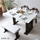 値下げ★伸長式ダイニングテーブルセット・美品