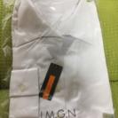 【新品】開襟 白いブラウス 11号