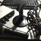 (値下げ可)オーディオインターフェース、ダイナミックマイクのセット
