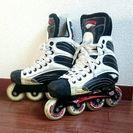 インラインスケート 23.5 ヘルメット付 ローラー ホッケー
