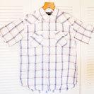 【等価交換OK】春夏向けのチェック半袖シャツ☆メンズ XLサイズ