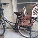 自転車と子供シート8千円