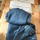 ブルーのカーテン100×200cm (レースおまけ)