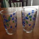 春のセール🌸昭和レトロ ガラスコップ  二個セット