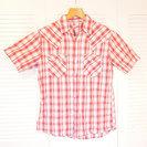 【等価交換OK】春夏向けの可愛いチェック半袖シャツ☆メンズ Lサイズ