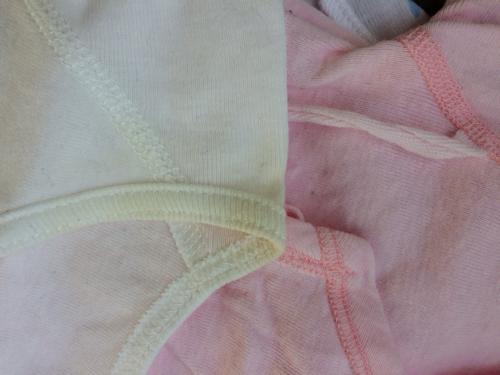 5507a70494573 手作りスタイ&新生児短肌着 (りいぬ) 大島のベビー用品の中古あげます ...