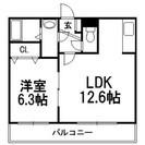 【白石区】広々LDK12.6帖 洋室6.3帖!!ロードヒーティン...