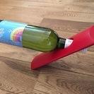 イタリア製 木製ワインボトルホルダーー(未使用)