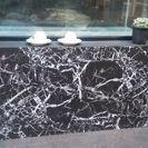 水槽台木製黒大理石調1200