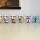 ワンピース ガラス ミニコップ 7個