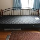 【2013購入】ニトリのソファ兼ベッド&マットレス&クッション×2