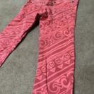100cm 綿95%クールな赤いパンツ