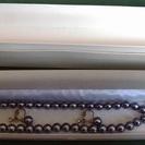 キャンセル&転売OK!黒真珠のネックレスとイヤリング(イミテーション)
