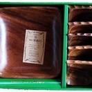 手彫り木製器セット