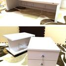 (終了しました。 )☆美品 ローデスク 学習机 インテリアテーブ...