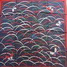 新品 森英恵 HANAE MORI スカーフ 紺と赤,緑、白