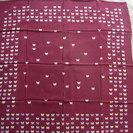 新品 森英恵 HANAE MORI スカーフ 赤紫に小さな蝶