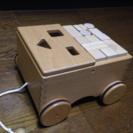 日本製天然木ニチガン つみきぐるま 「発送可能」