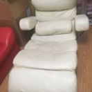 ホワイトレザー 座椅子♡