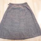 13号 茶色チェック柄スカート