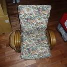 リクライニング 籐椅子 ローラー付き