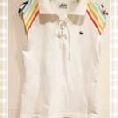 【ラコステ】レディース白ポロシャツ