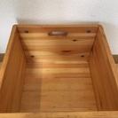 キャスター付きパイン材収納ボックス(無印良品) - 家具